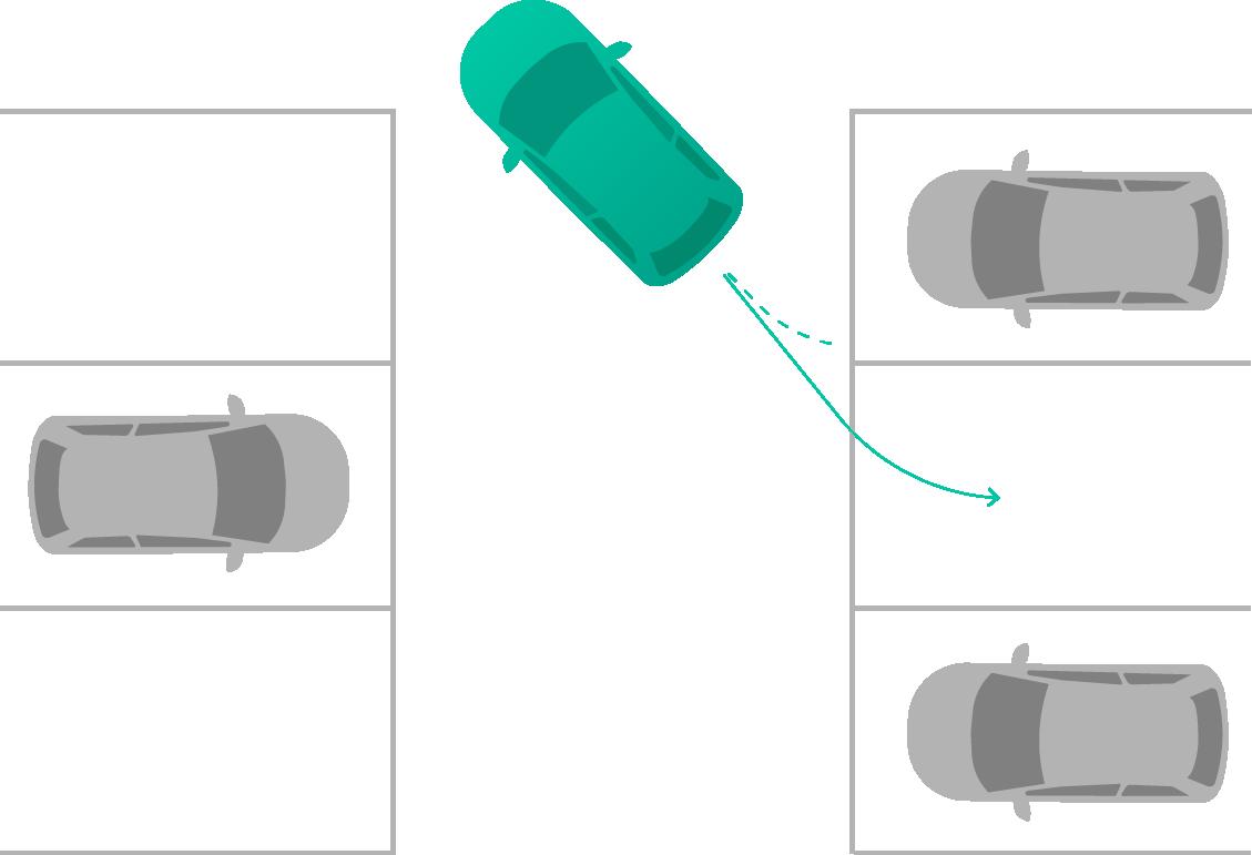 vorwärts einparken wann einlenken